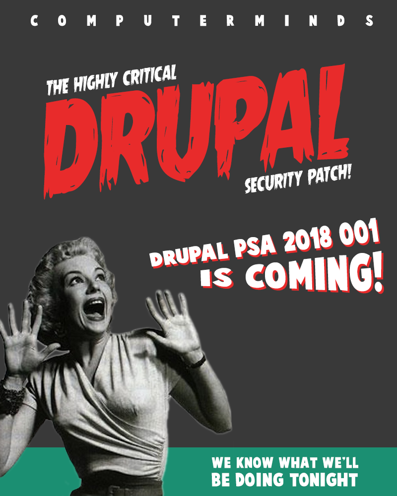 Drupal security patch b-movie poster
