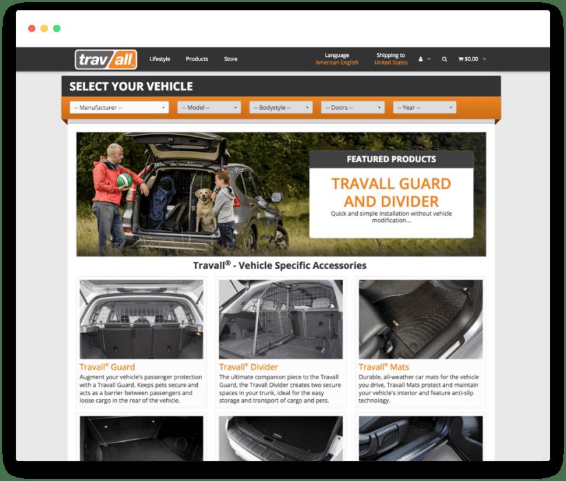 Travall homepage