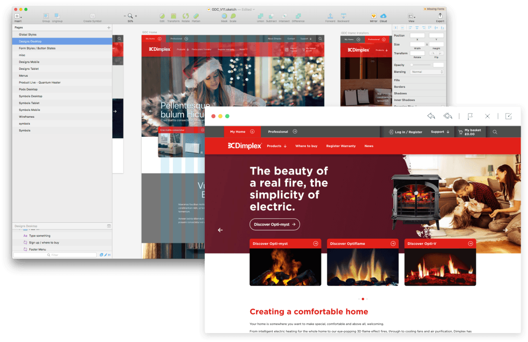 Dimplex design and build screenshot