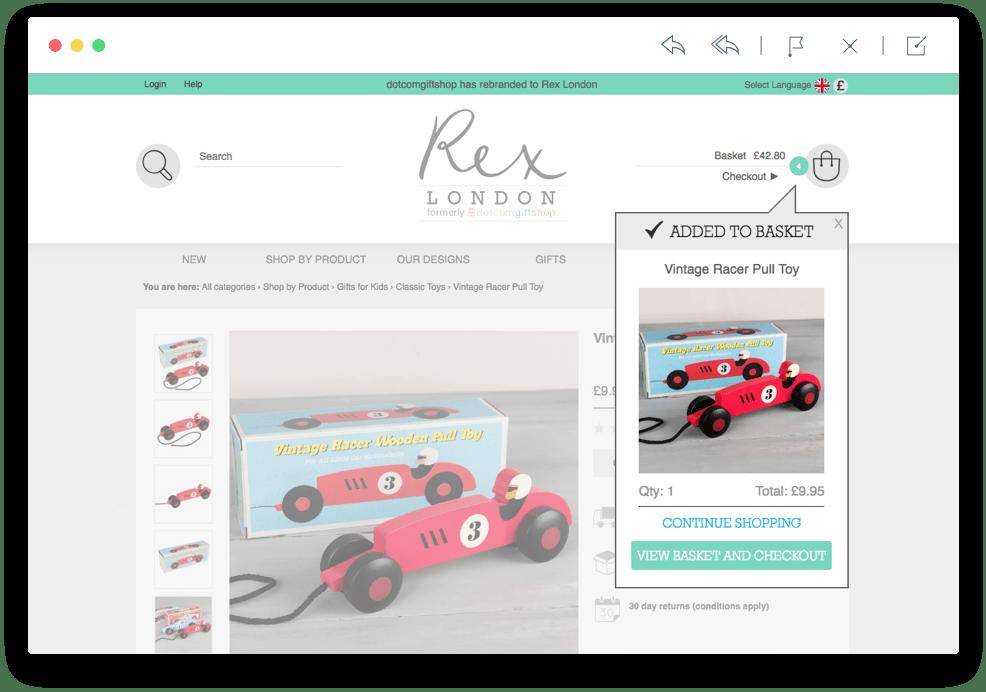 Rex London basket screenshot