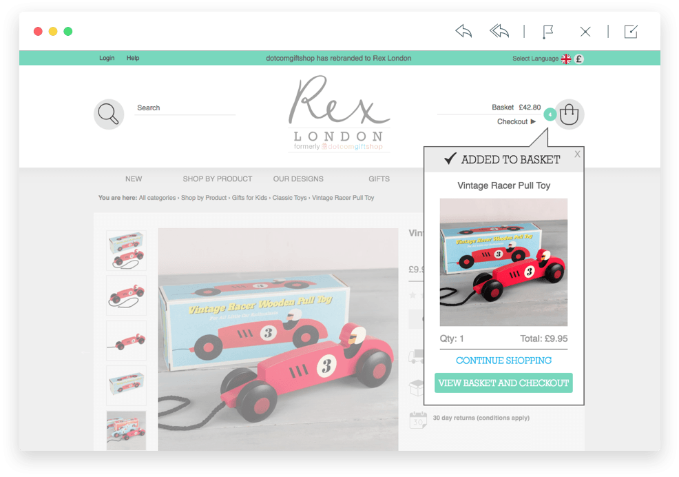 Rex London basket screenshot