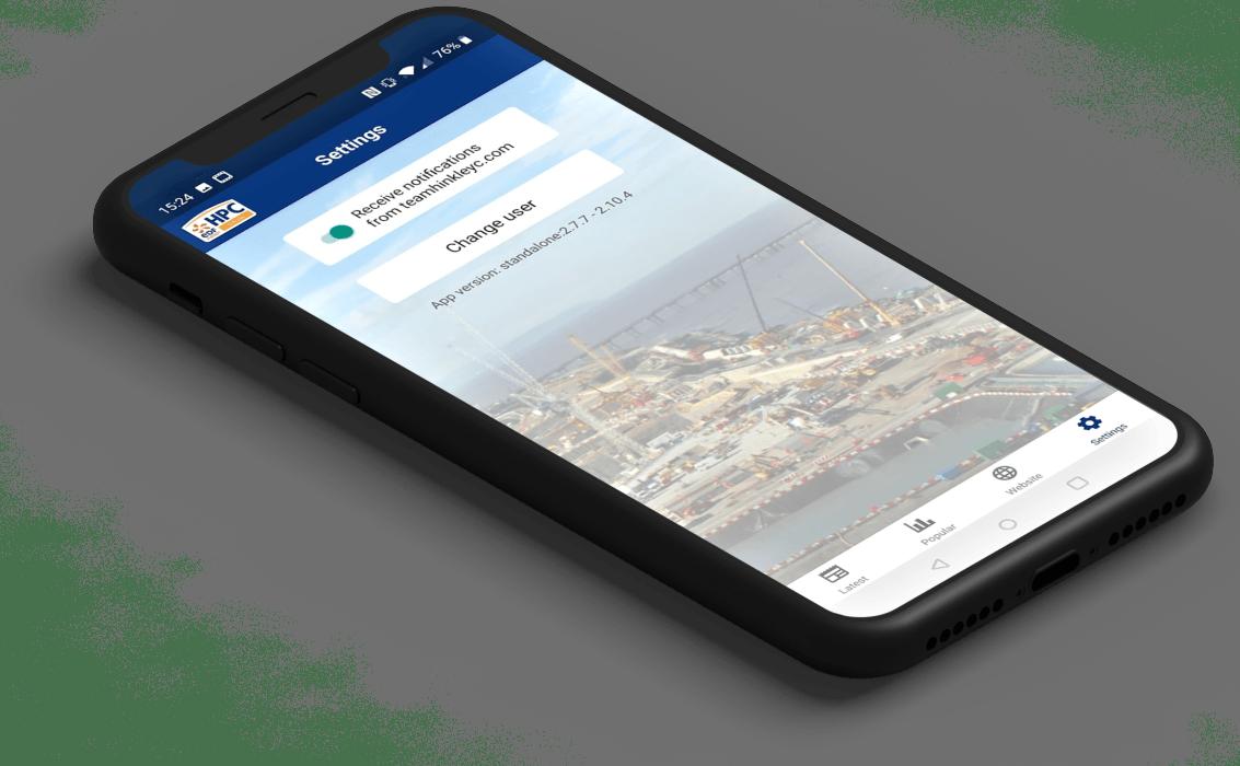 NNB App notification screen