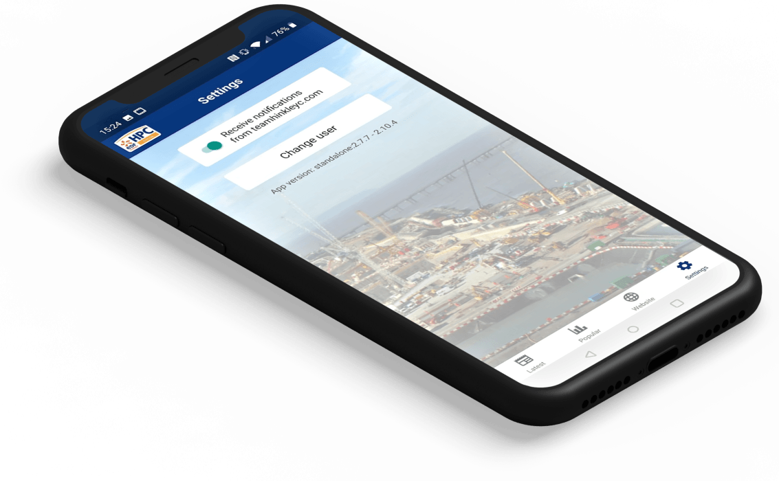 NNB App notification screen