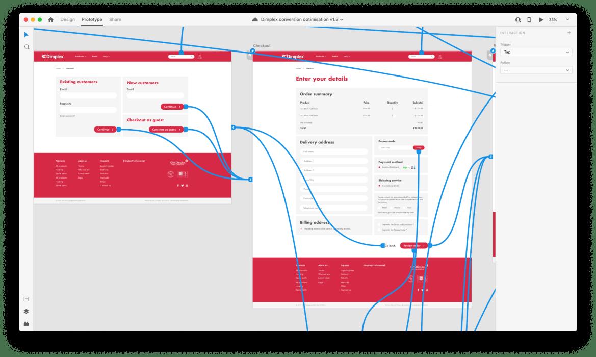Prototype layout